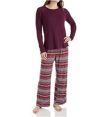 Maidenform Brushed Knit Shirt and Pant Set