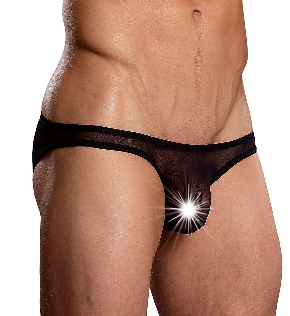 male power pak-881 euro male mesh micro mini pouch bikini (black xl)