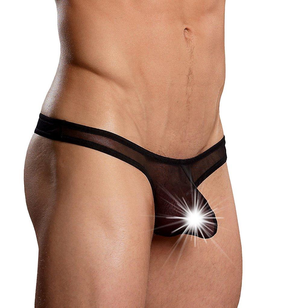male power pak-882 euro male mesh mini pouch thong (black l/xl)