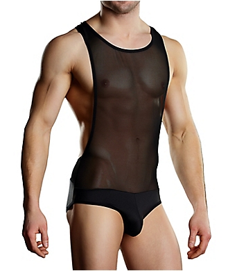 Male Power Sheer Spandex Singlet