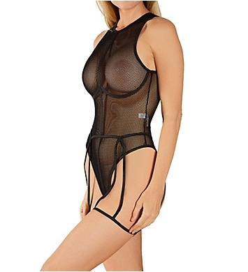 Mapale Bodysuit With Garter Belt Set