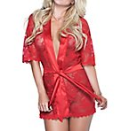Lace Robe & Matching G-String Set