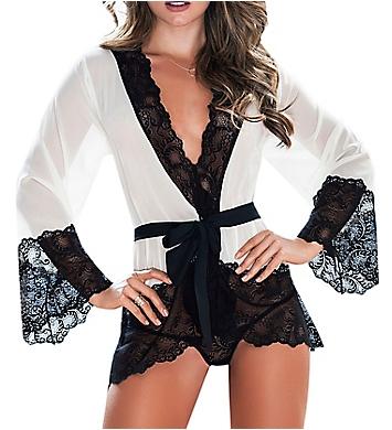 Mapale Chiffon & Lace Robe Set