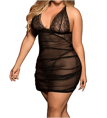 Mapale Plus Size Babydoll with Matching G-String