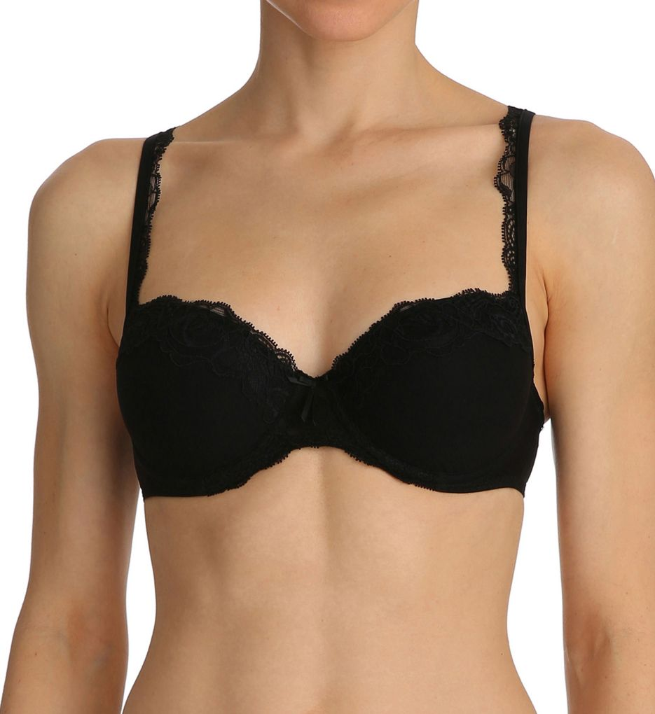 Marie Jo Black Lace Balcony Padded Bra