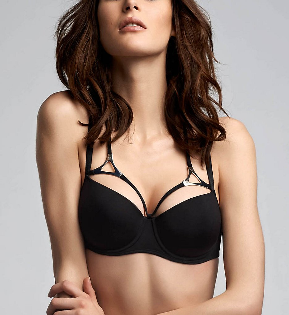 Marlies Dekkers >> Marlies Dekkers 16290 Triangle Padded Balcony Bra (Black 32C)
