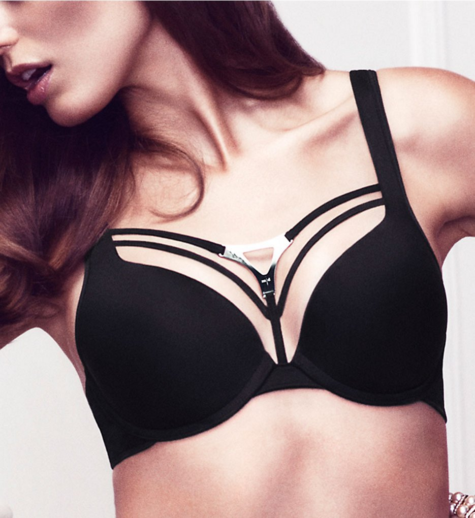 Marlies Dekkers >> Marlies Dekkers 16291 Triangle Padded Push Up Bra (Black 32B)