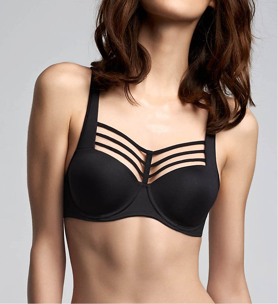 Marlies Dekkers >> Marlies Dekkers 16800 Leading Strings Padded Balcony Bra (Black 32B)