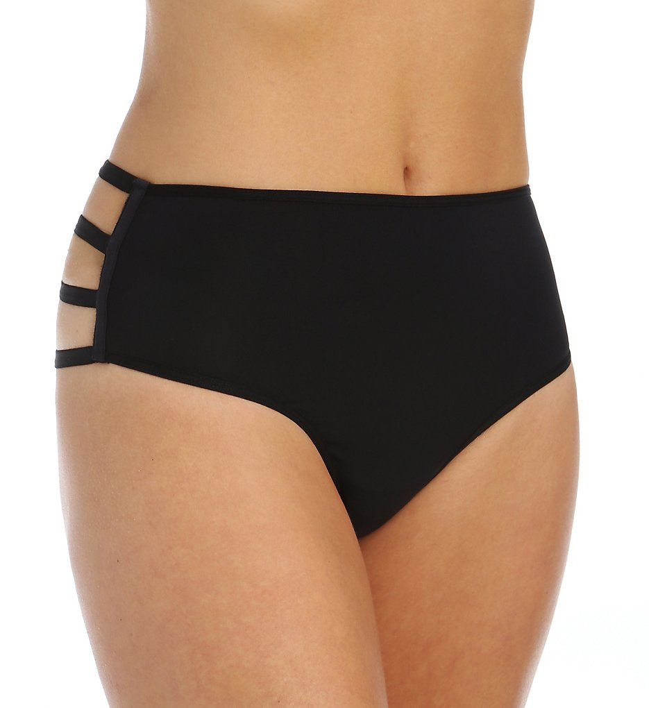 Marlies Dekkers >> Marlies Dekkers 16802 Leading Strings High Rise Thong (Black S)
