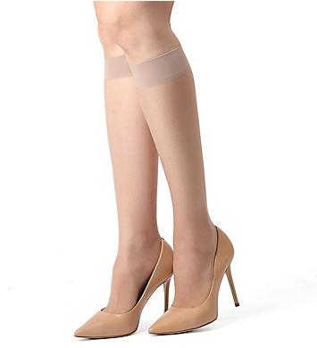 MeMoi Crystal Sheer Knee High
