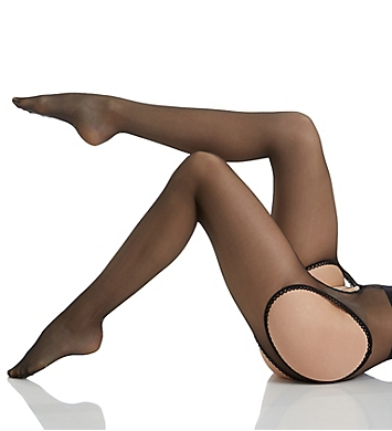 MeMoi Suspender Lace Trim Tights