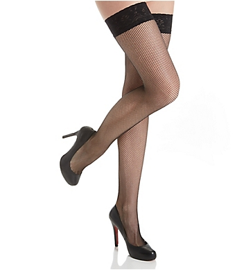MeMoi Fishnet Lace Top Stockings