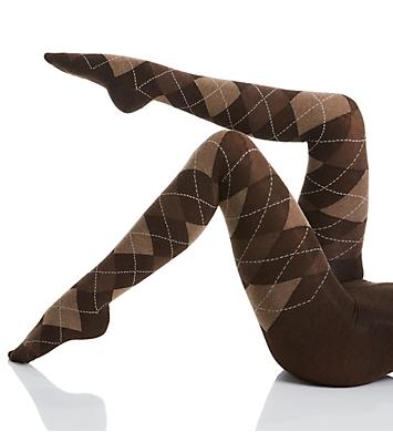 MeMoi Textured Argyle Sweater Tights