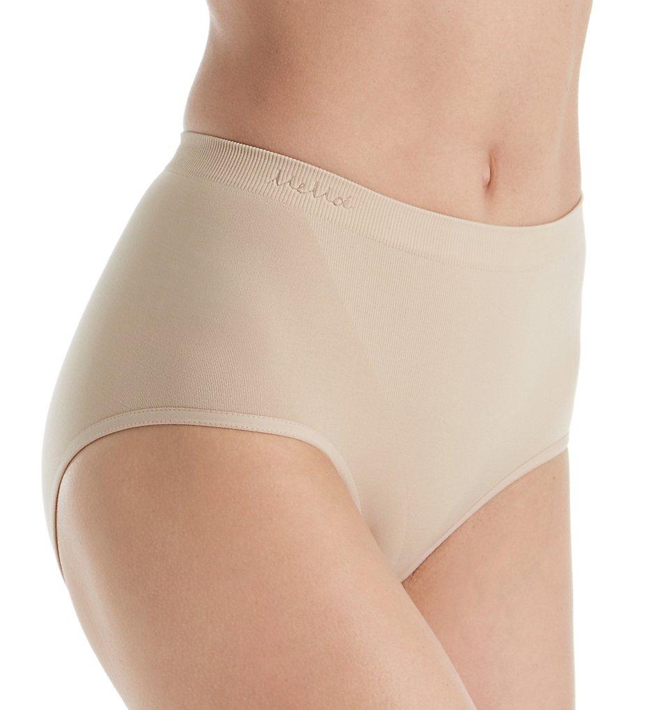 MeMoi - MeMoi MSM-100 SlimMe Seamless Control Brief Panty (Nude S)
