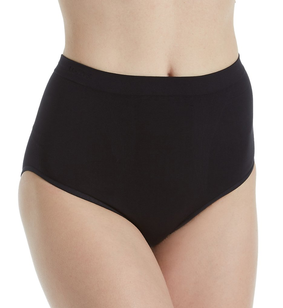 MeMoi - MeMoi MSM-106 SlimMe Hi-Cut Control Brief Panty (Black S)