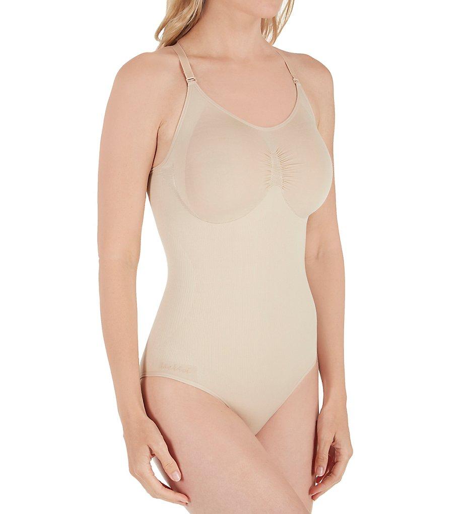 MeMoi - MeMoi MSM-119 SlimMe Seamless Brief Bodysuit (Nude S)