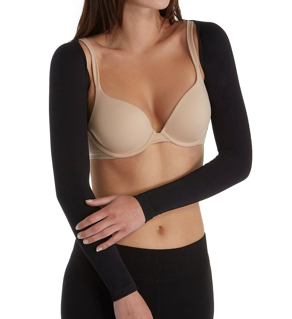 MeMoi - MeMoi MSM-140 SlimMe Long Sleeve Arm Shapers (Black S)