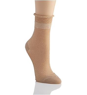 MeMoi Metallic Sheer Shortie Socks