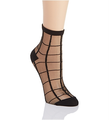 MeMoi Sheer Plaid Anklet Socks