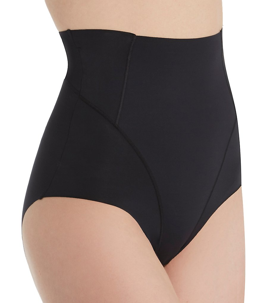MeMoi - MeMoi SMX-101 SlimX Ultra-Sonic High Waisted Shaping Brief Panty (Black S)
