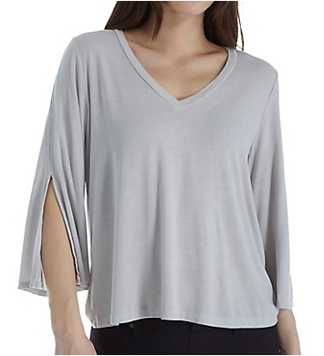 Michael Stars 3/4 Slit Sleeve V-Neck Top