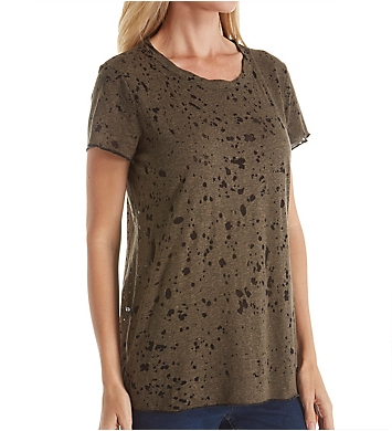 Michael Stars Splatter Burnout Short Sleeve Tee