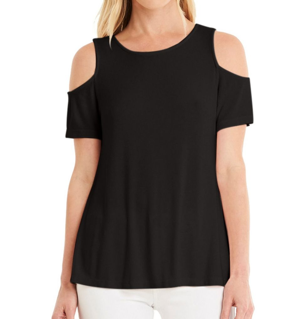 Michael Stars 2X1 Cold Shoulder Short Sleeve Tee