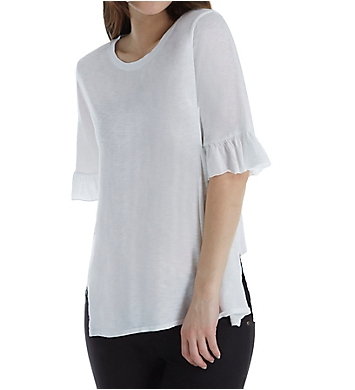 Michael Stars Crew Neck with Ruffle Sleeve Tee