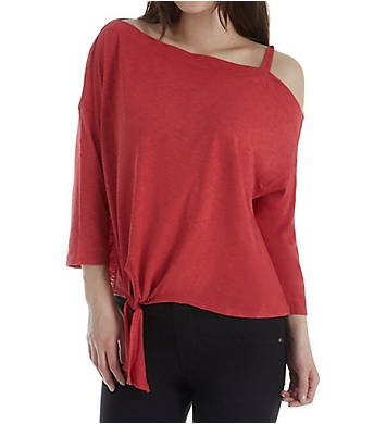 Michael Stars 3/4 Sleeve Off Shoulder Knot Top