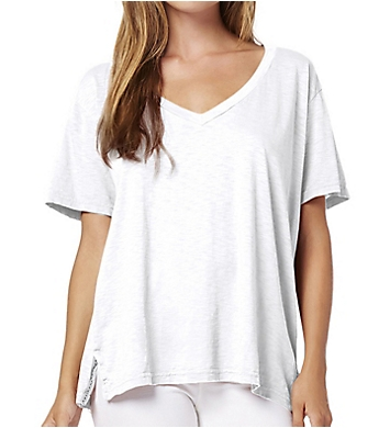 Michael Stars Supima Cotton Slub Short Sleeve V-Neck Tee