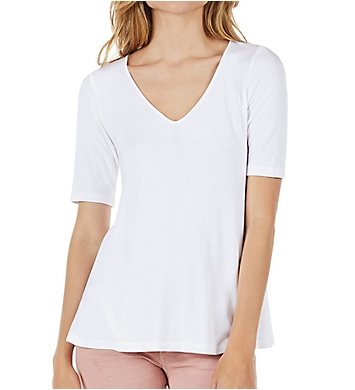 Michael Stars 2x1 Rib V-Neck Swing Tee