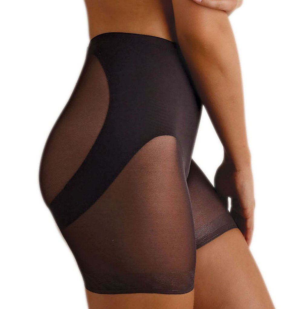 Miraclesuit : Miraclesuit 2776 Sheer Shaping Waistline Rear Lifting Boy Short (Black S)