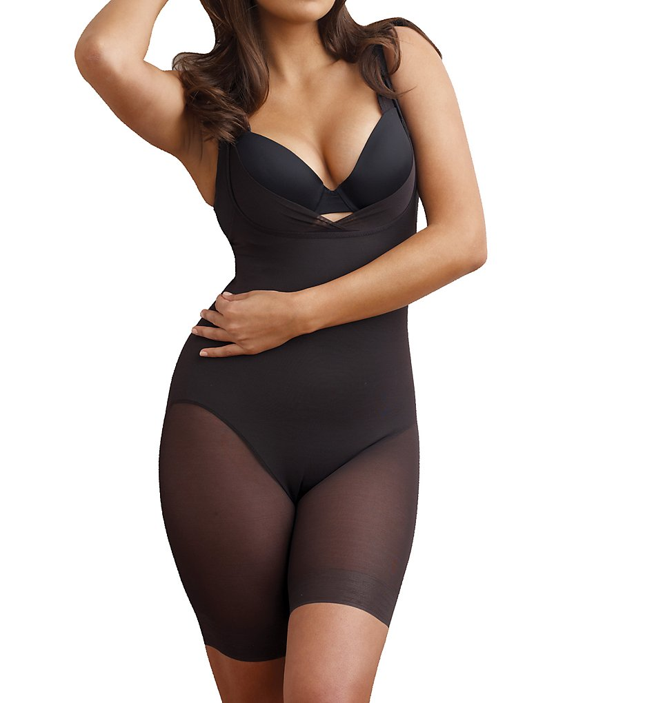 Miraclesuit >> Miraclesuit 2781 Sheer Shaping Wear Your Own Bra Singlette (Black L)