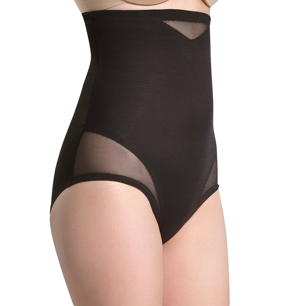 Miraclesuit >> Miraclesuit 2785 Sheer Shaping Hi-Waist Brief (Black L)