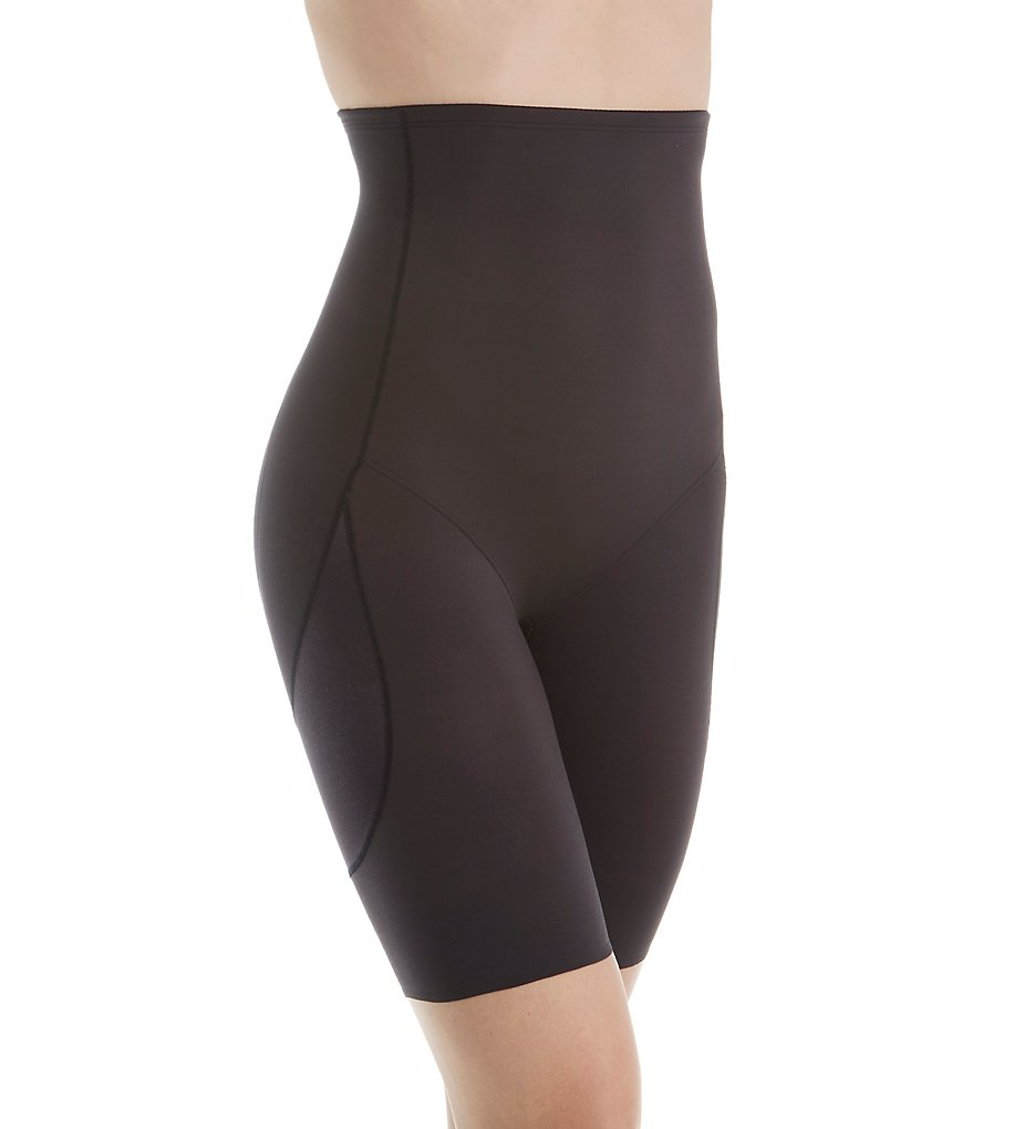 Miraclesuit : Miraclesuit 2819 Rear Lift & Thigh Control Hi-Waist Thigh Slimmer (Black S)
