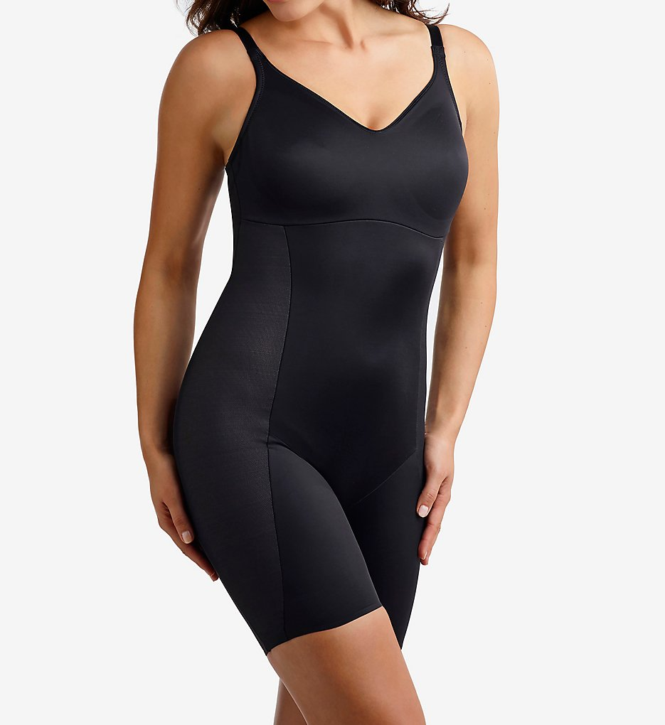 Miraclesuit : Miraclesuit 2860 Smooth Sculpt Thigh Slimming Bodybriefer (Black 36C)