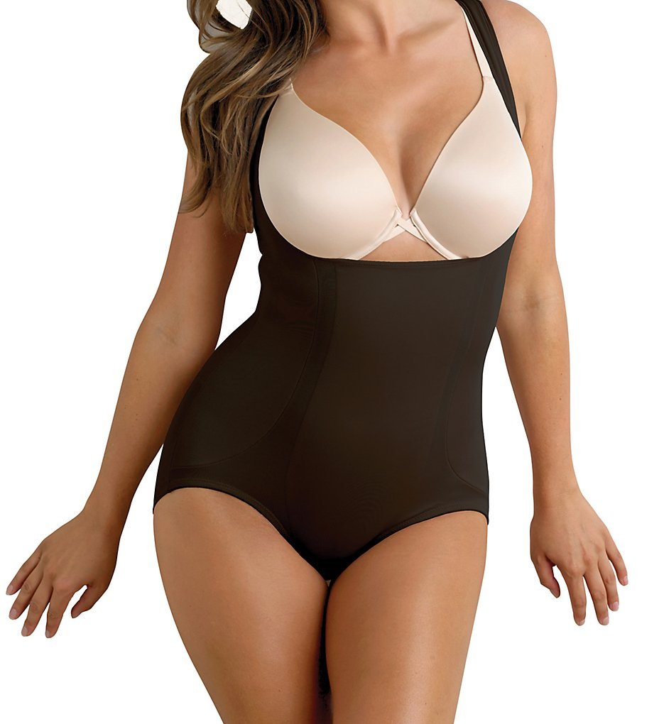 Miraclesuit : Miraclesuit 2918 Shape Away with Back Magic Torsette Bodybriefer (Black S)