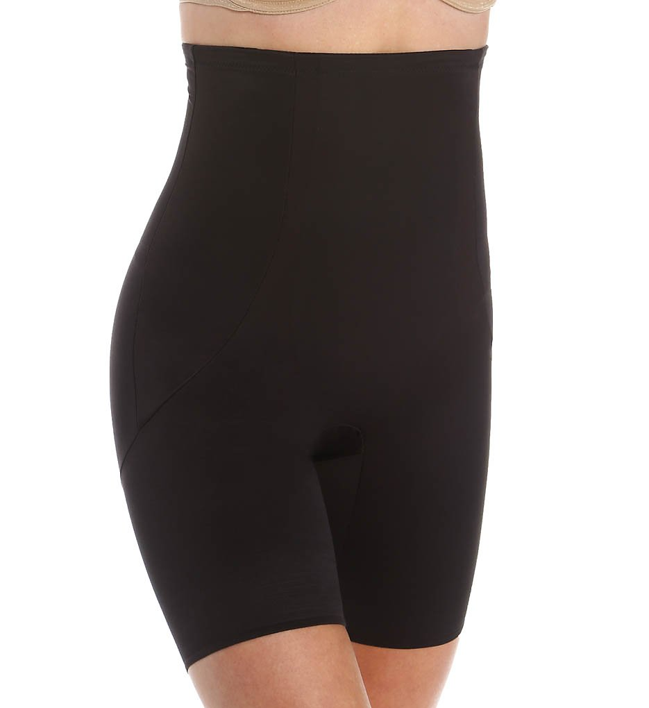 Miraclesuit : Miraclesuit 2919 Shape Away with Back Magic Hi-Waist Thigh Slimmer (Black S)