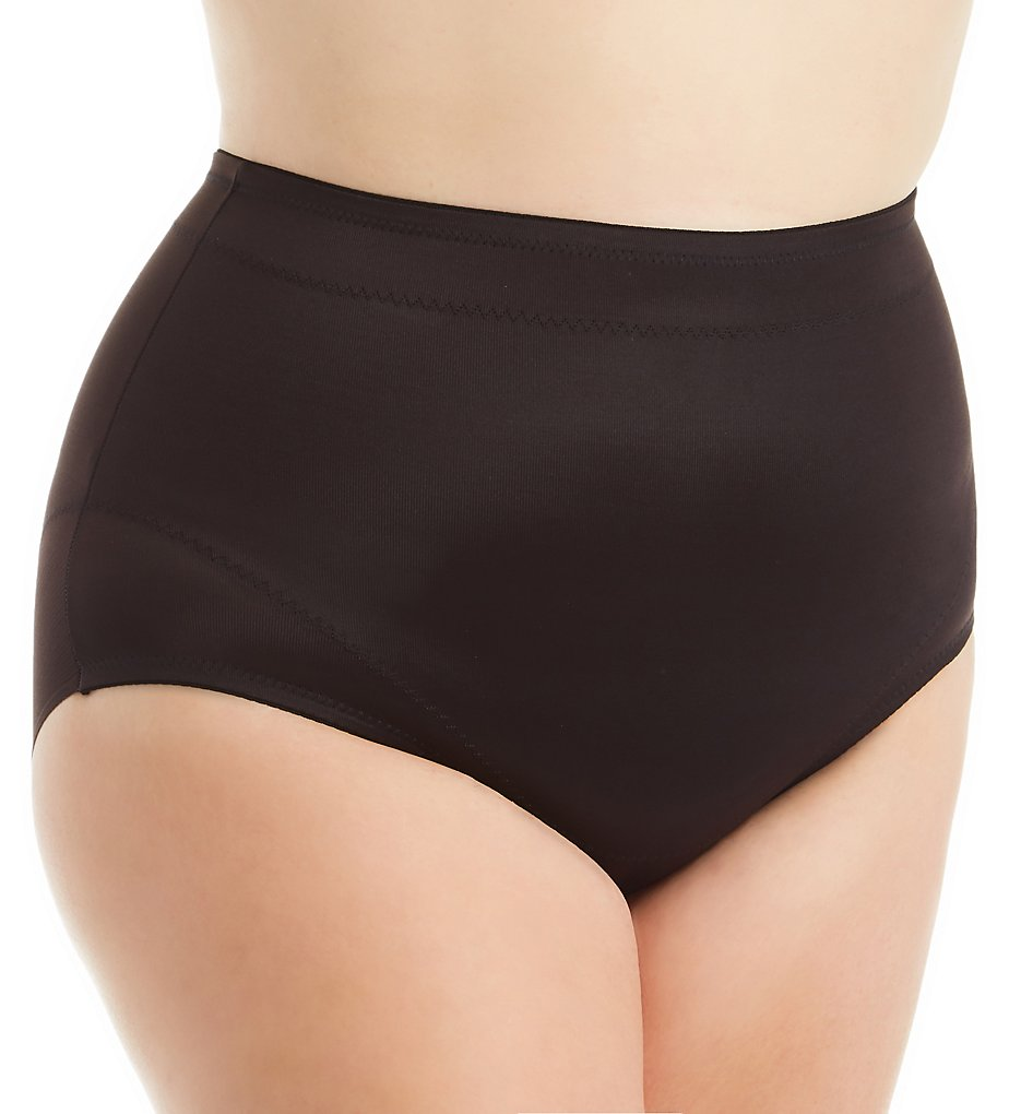 Miraclesuit >> Miraclesuit 2934 Plus Flexible Fit Shaping Waistline Brief (Black 1X)
