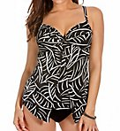 Hard to be Leaf Love Knot Wired Tankini Swim Top