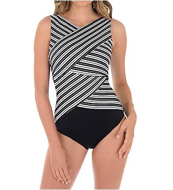 Miraclesuit Mayan Stripe Brio Underwire One Piece Swimsuit