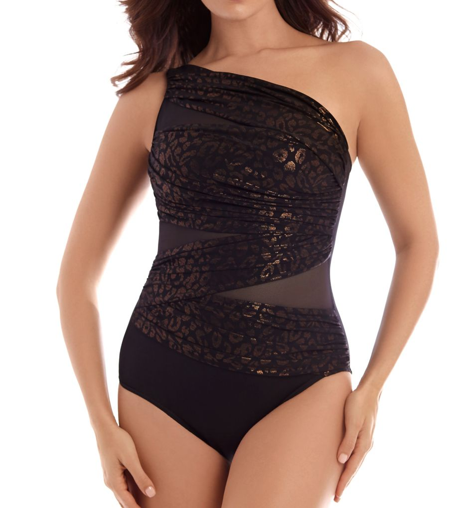 Miraclesuit Gilty Pleasures Jena Shelf Bra One Piece Swimsuit