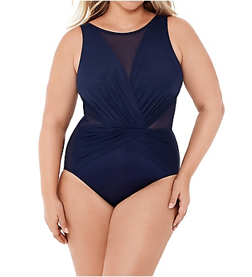Miraclesuit Plus Size Illusionists Palma One Piece Swimsuit