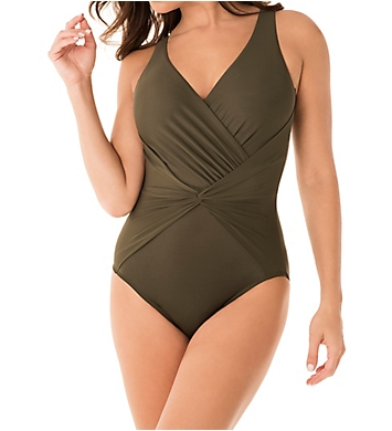 Miraclesuit Rock Solid Twister Wireless One Piece Swimsuit
