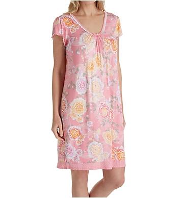 Miss Elaine Liquidknit Flutter Sleeve Short Gown