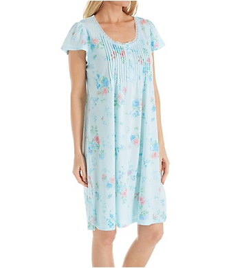 Miss Elaine Silkyknit Spring Bouquet Short Gown