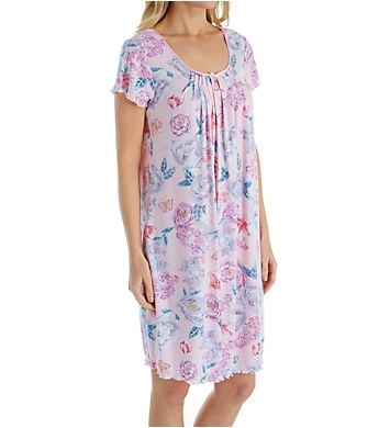 Miss Elaine Sofiknit Spring Floral Short Gown