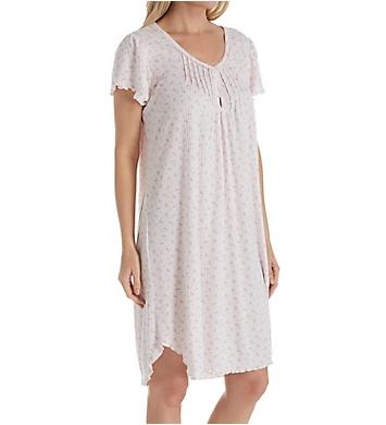 Miss Elaine Sofiknit Short Sleeve Short Gown