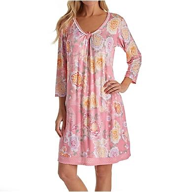 Miss Elaine Liquidknit Long Sleeve Short Gown