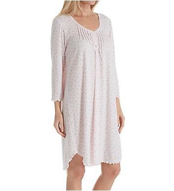 Miss Elaine Sofiknit 3/4 Sleeve Short Gown